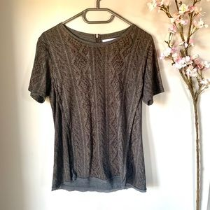 ZARA COLLECTION / SNAKESKIN PRINT TEE